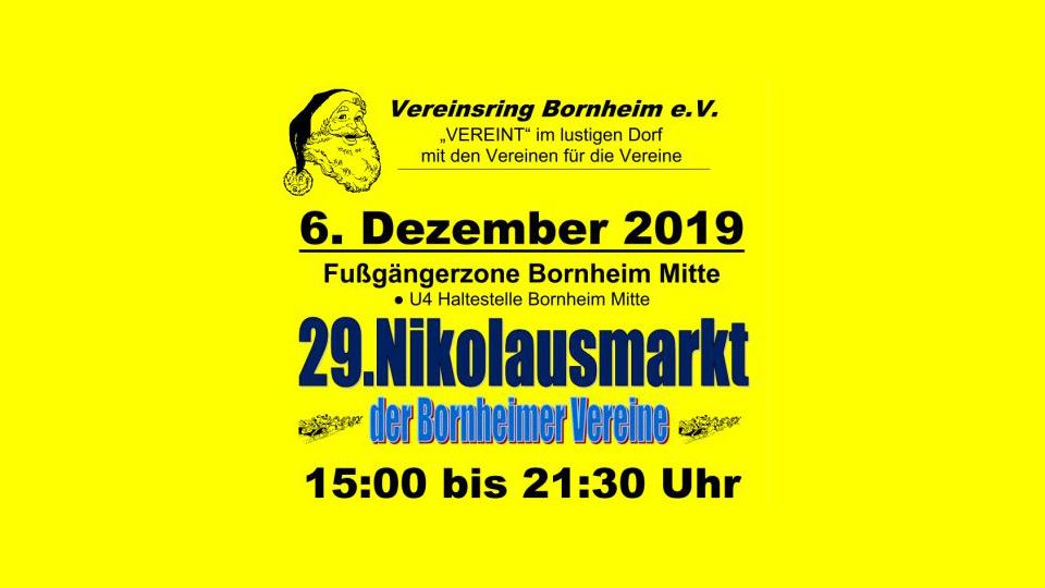 Nikolausmarkt der Bornheimer Vereine am 6. Dezember 2019 - Der kleine Weihnachtsmarkt in Frankfurt am Main
